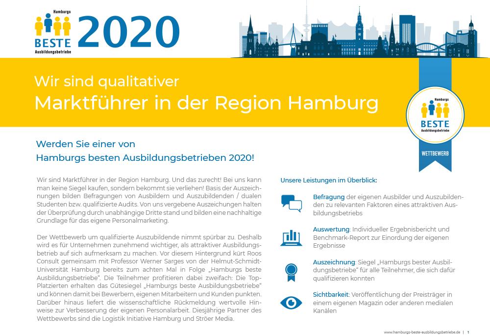 Folder 2020 Hamburgs Beste Ausbildungsbetriebe