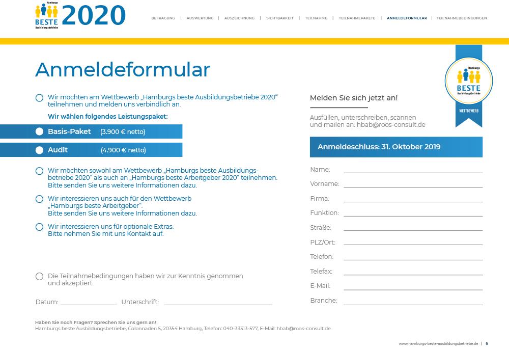 Anmeldungformular 2020 Hamburgs Beste Ausbildungsbetriebe
